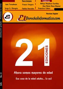 Revista Digital Nº 21 ElDerechoInformatico.com