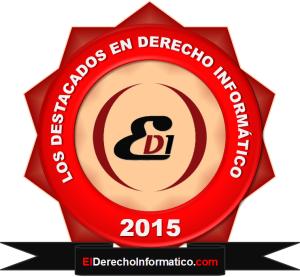 """Ganadores """"LOS DESTACADOS DEL AÑO 2015"""" en Derecho Informático"""