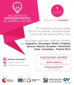 Minga política en Buenos Aires con el Encuentro de Innovación Política en América Latina