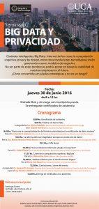 """Seminario """"Big Data y Privacidad"""" – Escuela de Negocios UCA Argentina"""