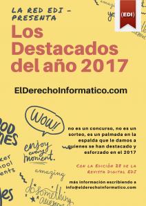 """POSTULACIÓN """"LOS DESTACADOS DEL AÑO 2017 – EDI"""""""