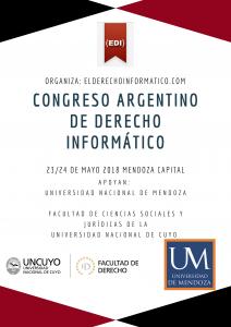 INSCRIPCIÓN ABIERTA – CONGRESO ARGENTINO DE DERECHO INFORMÁTICO MENDOZA