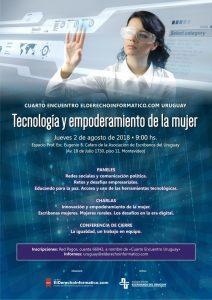 """CUARTO ENCUENTRO DE DERECHO INFORMÁTICO """"Tecnología y empoderamiento de la mujer"""" – EDI-URUGUAY"""