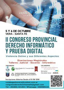 II CONGRESO PROVINCIAL DE DERECHO INFORMÁTICO Y PRUEBA DIGITAL
